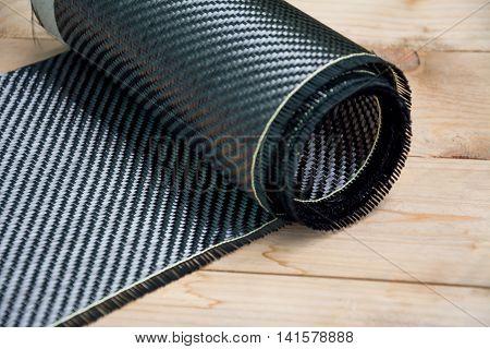 Carbon fiber kevlar composite raw material background