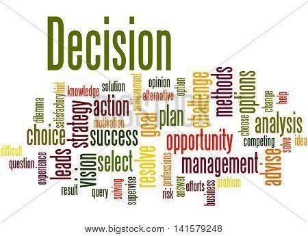 Decision, Word Cloud Concept 2