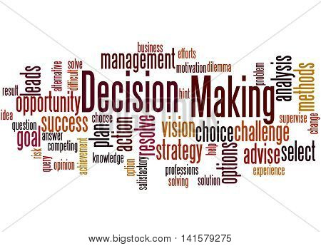 Decision Making, Word Cloud Concept 8