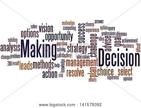 Decision Making, Word Cloud Concept