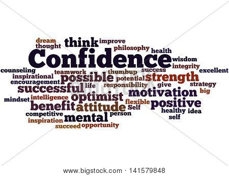 Confidence, Word Cloud Concept 3