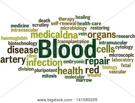 Blood, Word Cloud Concept 2