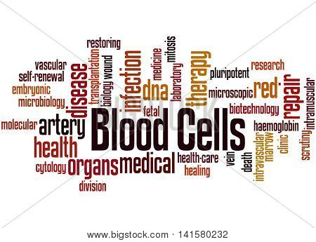 Blood Cells, Word Cloud Concept 9