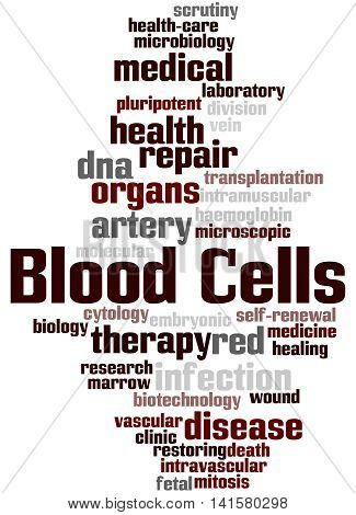 Blood Cells, Word Cloud Concept 5