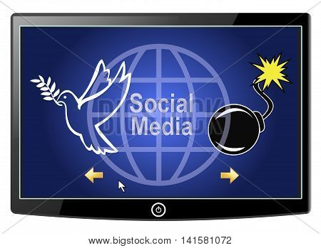 Social Media Peace or War. There are positive and negative effects of Social Networks, from peace building to cyber warfare