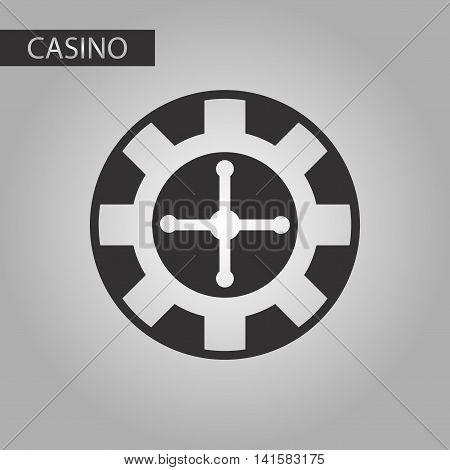 black and white style poker roulette casino, vector