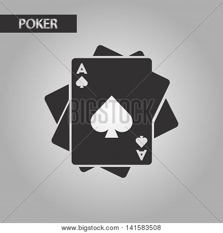 black and white style poker playing cards, vector