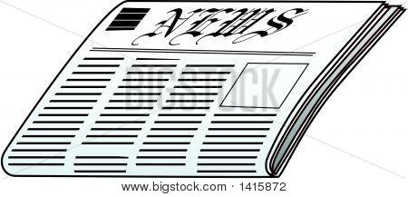 Newspaper Vector.Eps