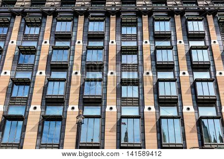 London, UK - July 15, 2016 - The exterior of Portcullis House, an office building in Westminster