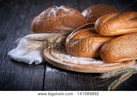 Freshly Baked Traditional Bread In Assortment