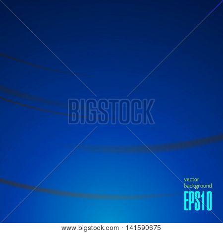 Abstract Magical Wave Background Illustration. Dark Bluish Design. Vector Illustration
