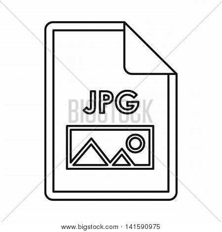 JPG file extension icon icon in outline style isolated on white background