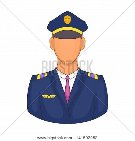 Pilot icon in cartoon style on a white background