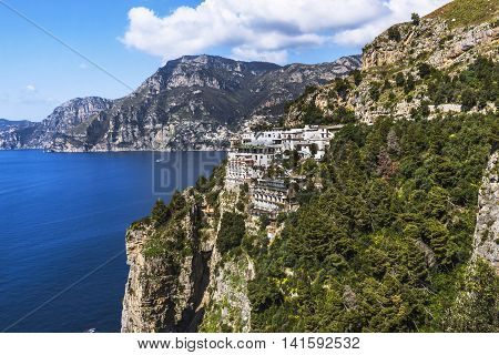 Houses On Rocks On Positano, Amalfi Coast