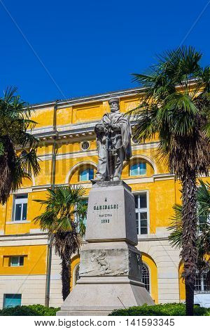 Giuseppe Garibaldi Square Of Ravenna. Emilia-romagna. Italy.