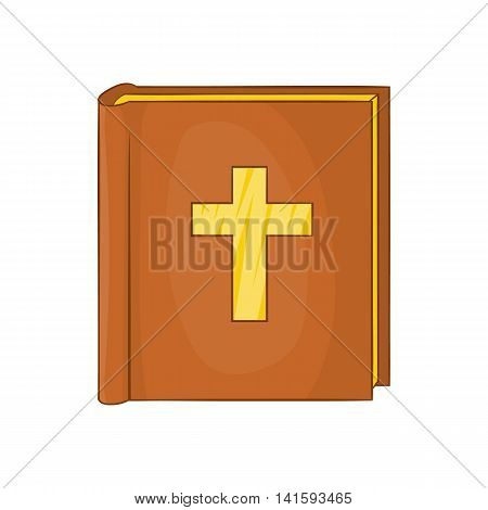 Bible icon in cartoon style on a white background