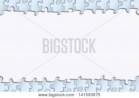 Horizontal strip of paper for your design banded surround elements of the puzzle