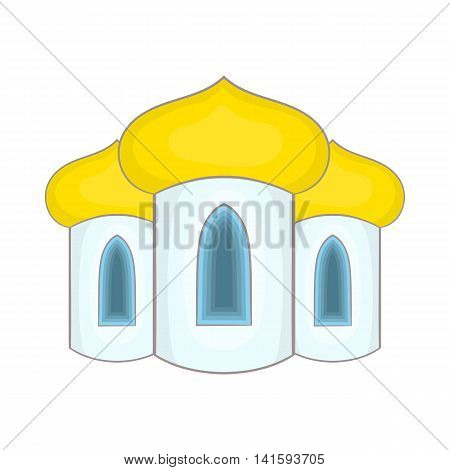 Domes of the church icon in cartoon style on a white background