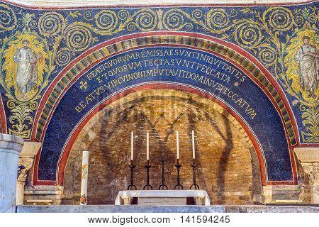 Neoniano Baptistery Of Neon In Ravenna, Emilia-romagna. Italy.