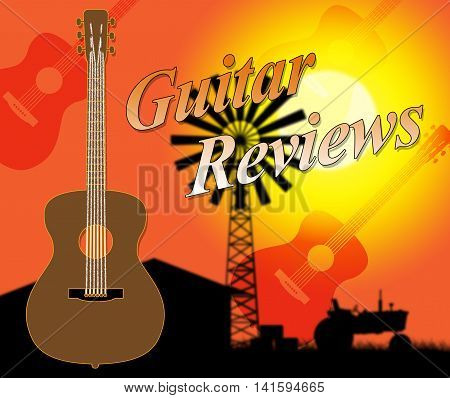 Guitar Reviews Shows Appraisal Evaluation And Evaluating