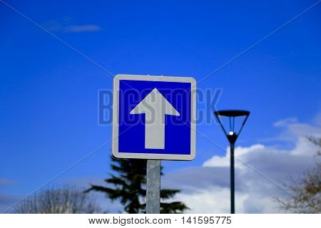 French One Way Only Road Sign