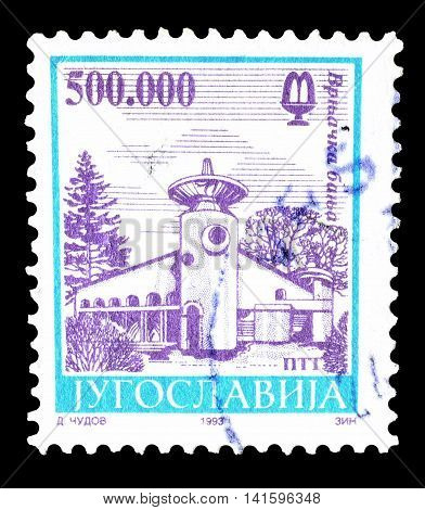 YUGOSLAVIA - CIRCA 1993 : Cancelled postage stamp printed by Yugoslavia, that shows Vrnjacka banja.