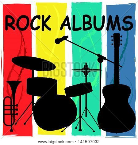 Rock Albums Means Sound Track And Acoustic