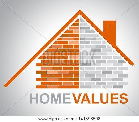 Home Values Represents Selling Price And Building