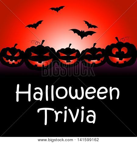 Halloween Trivia Represents Trick Or Treat And Answer