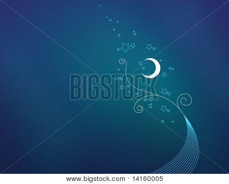Night blue background