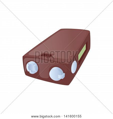Ecig battery icon in cartoon style on a white background
