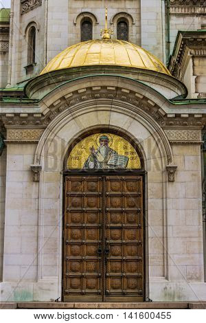 The Front Door Of Alexander Nevsky Cathedral - Sofia, Bulgaria