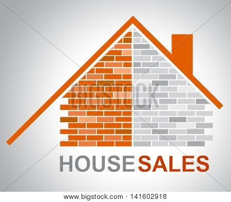 House Sales Indicates Purchases Habitation And Property