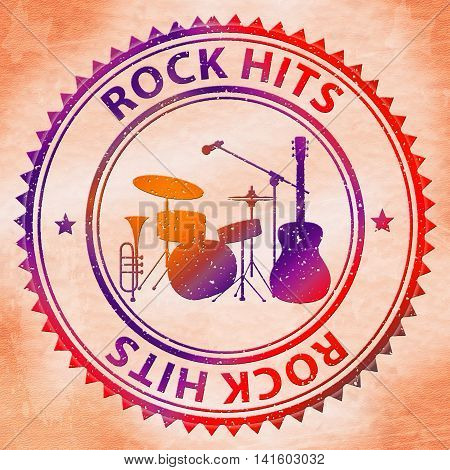 Rock Hits Indicates Sound Track And Audio