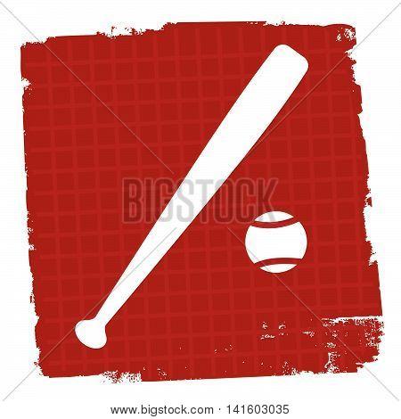 Baseball Icon Represents Team Sport And Ballgame