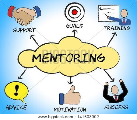 Mentoring Symbols Represents Confidants Icon And Confidant