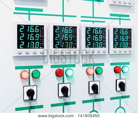 Electric Control Panel With Digital Display