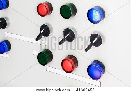 Electric Control Panel With Switches