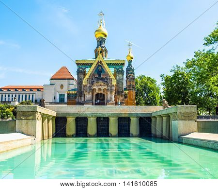 Russian Chapel In Darmstadt Hdr