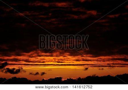 Gap Between Dark Clouds