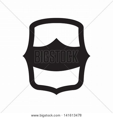 Combat shield for war icon in simple style isolated on white background. Protection symbol
