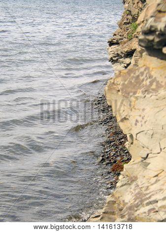 Sea coast in the Far East. Vladivostok. Russian island. Ussuri Bay.