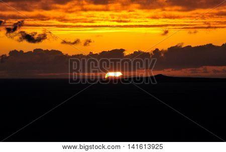 Sunset On The Island Of Fogo