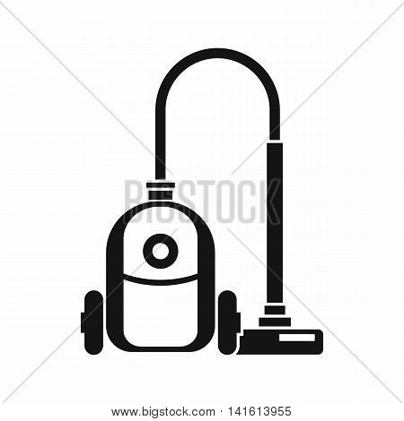 Vacuum cleaner icon in simple style isolated on white background. Home appliances symbol