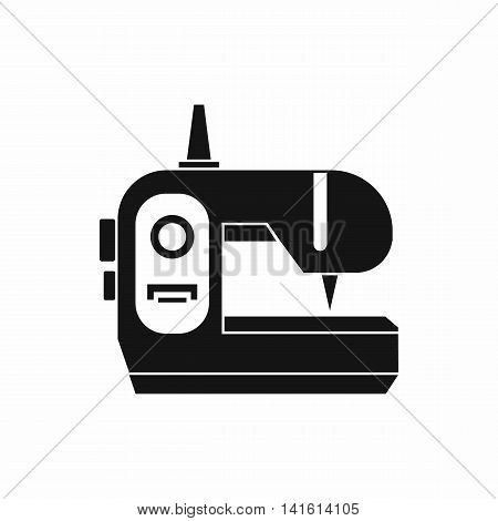Sewing machine icon in simple style isolated on white background. Home appliances symbol