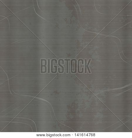 Scratched black metal sheet generated texture background