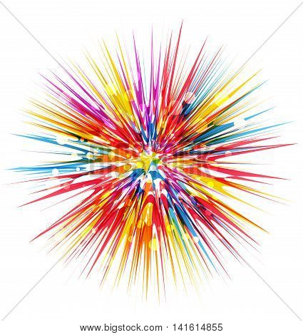 Vector colorful abstract beams, an explosion in a rainbow of colors