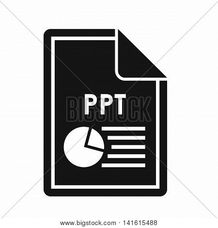 File PPT icon in simple style isolated on white background. Document type symbol