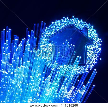 fiber optic connection to house