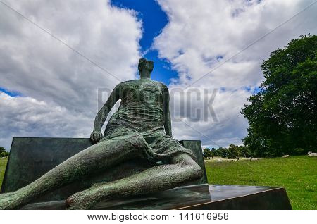 Wakefield-England July-2016 Yorkshire Sculpture Park Internationally exhibition in the UK This Season: